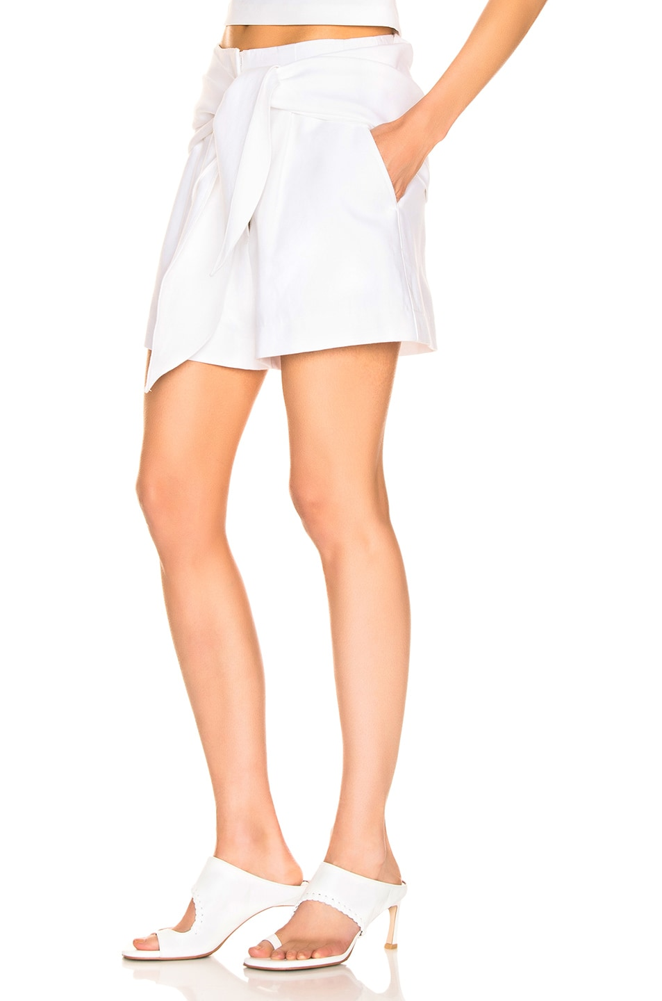 Image 4 of Tibi Suiting Short in White
