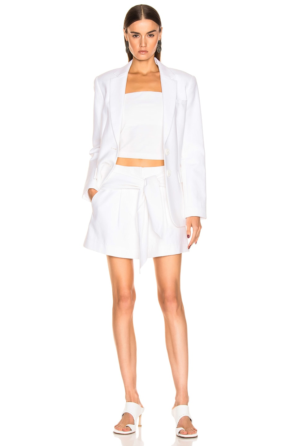 Image 6 of Tibi Suiting Short in White