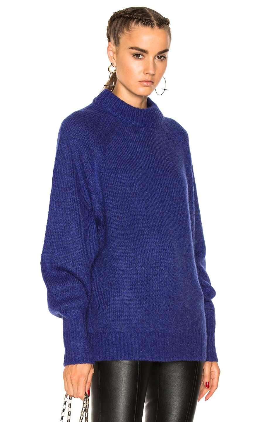 Image 1 of Tibi Mohair Oversized Sweater in Blue Purple