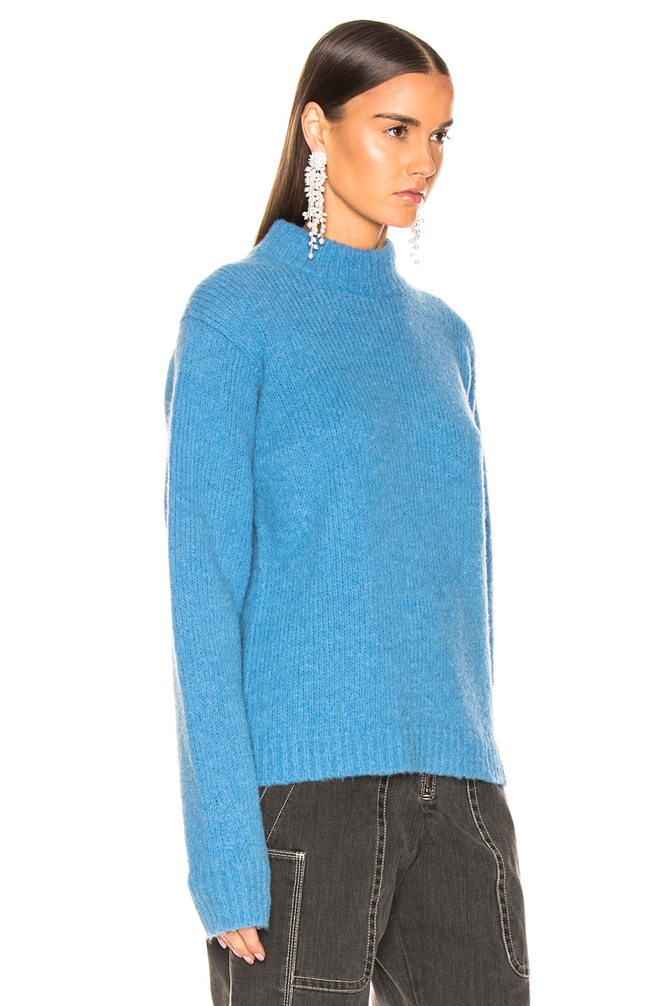 Image 2 of Tibi Easy Pullover in Sky Blue
