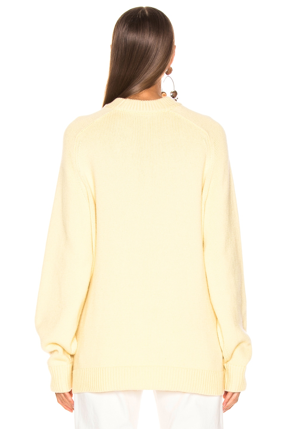 Image 3 of Tibi Crewneck Oversized Pullover in Butter Yellow