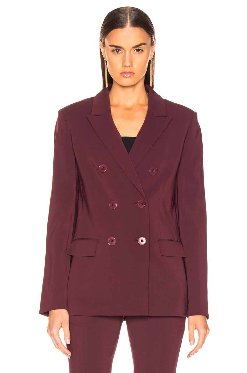Image 2 of Tibi Steward Blazer in Dark Currant