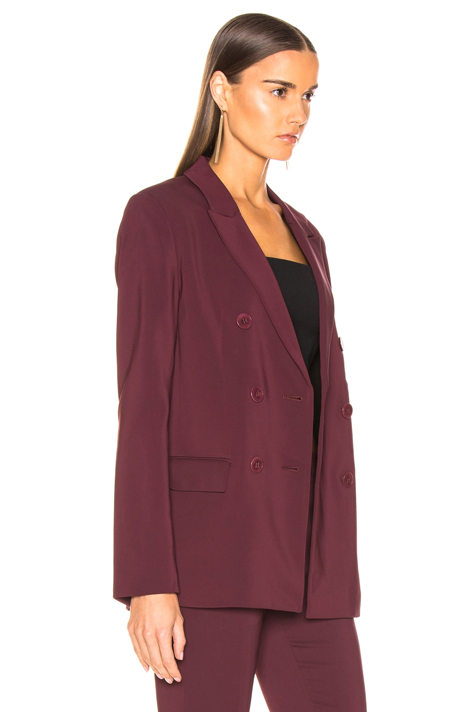 Image 3 of Tibi Steward Blazer in Dark Currant