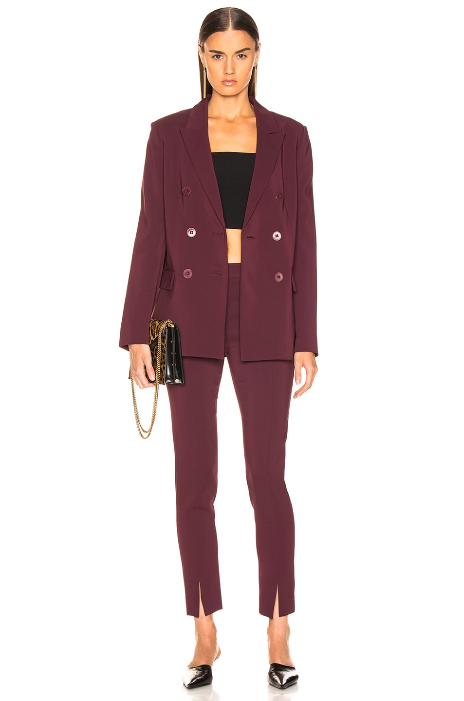 Image 5 of Tibi Steward Blazer in Dark Currant