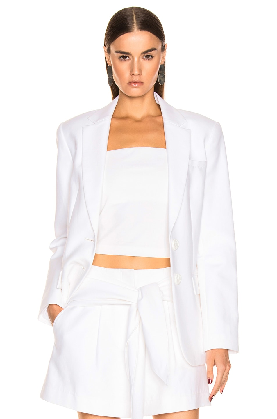 Image 1 of Tibi Cecilia Blazer in White
