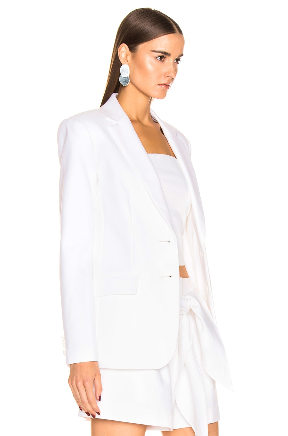 Image 3 of Tibi Cecilia Blazer in White