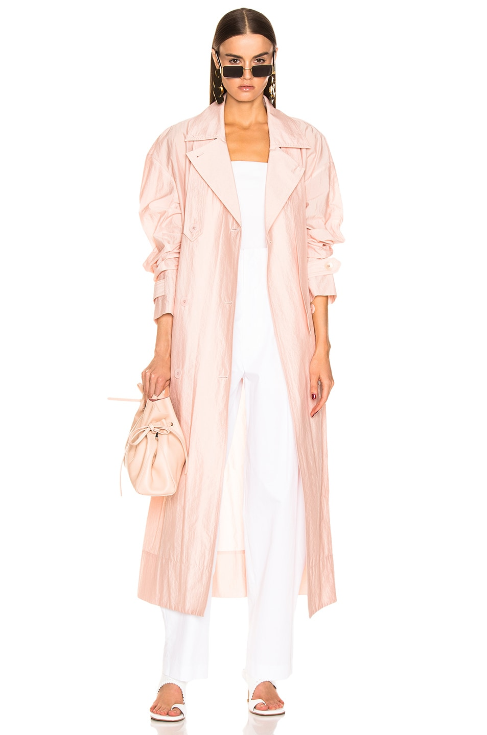 Image 1 of Tibi Spring Trench Windbreaker in Blush
