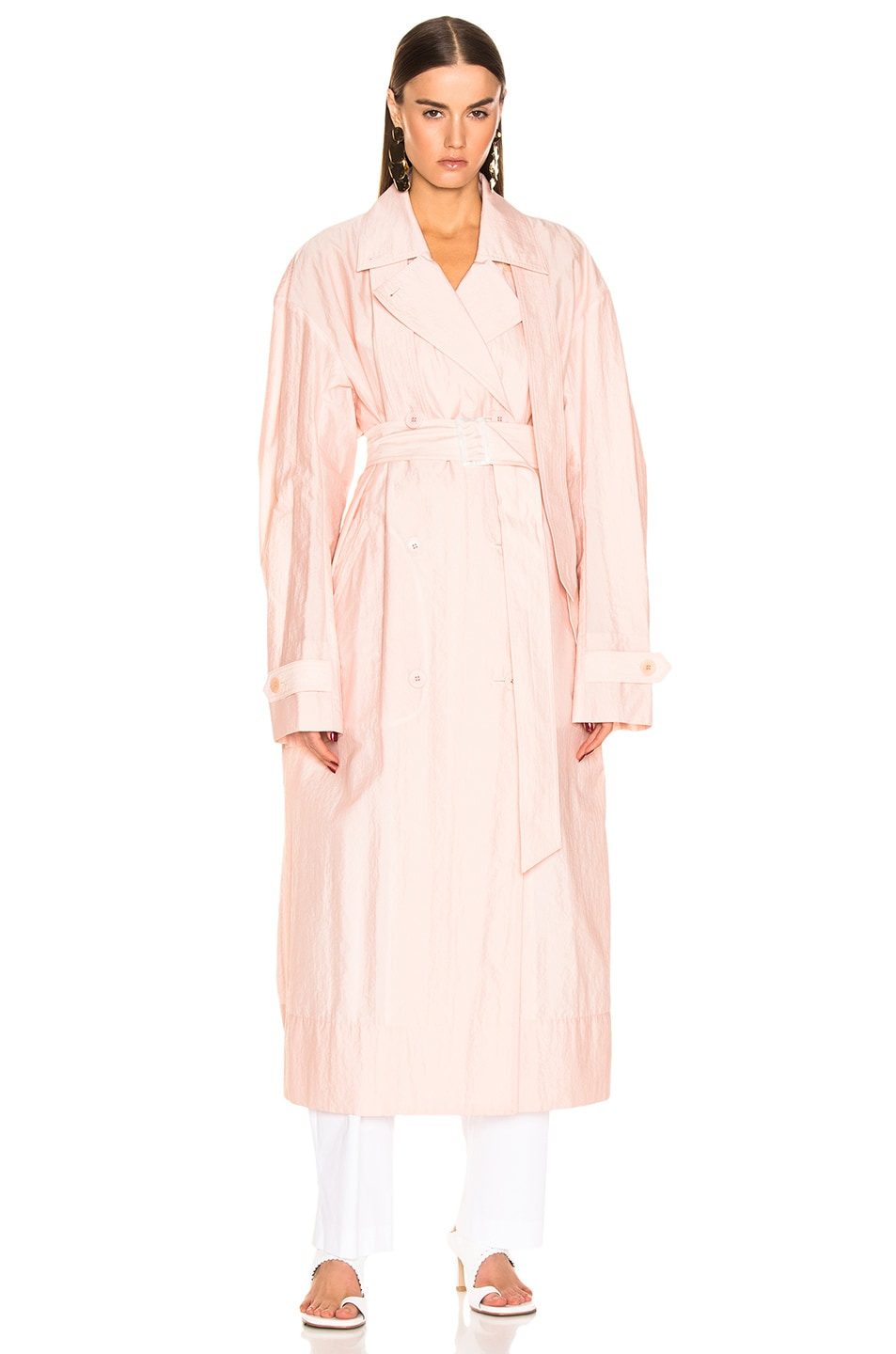 Image 2 of Tibi Spring Trench Windbreaker in Blush