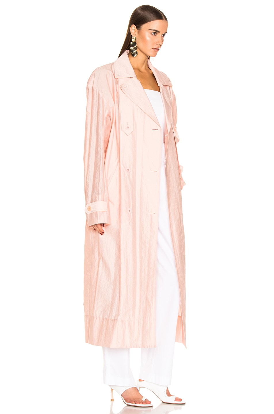 Image 3 of Tibi Spring Trench Windbreaker in Blush