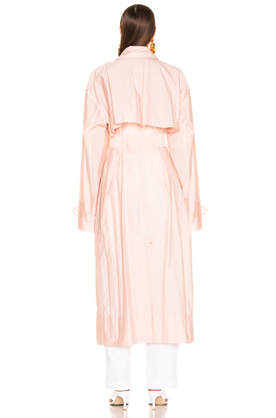 Image 4 of Tibi Spring Trench Windbreaker in Blush