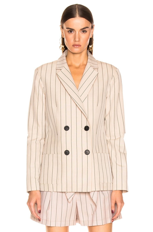 Image 2 of Tibi Stripe Suiting Blazer in Hazelwood Multi
