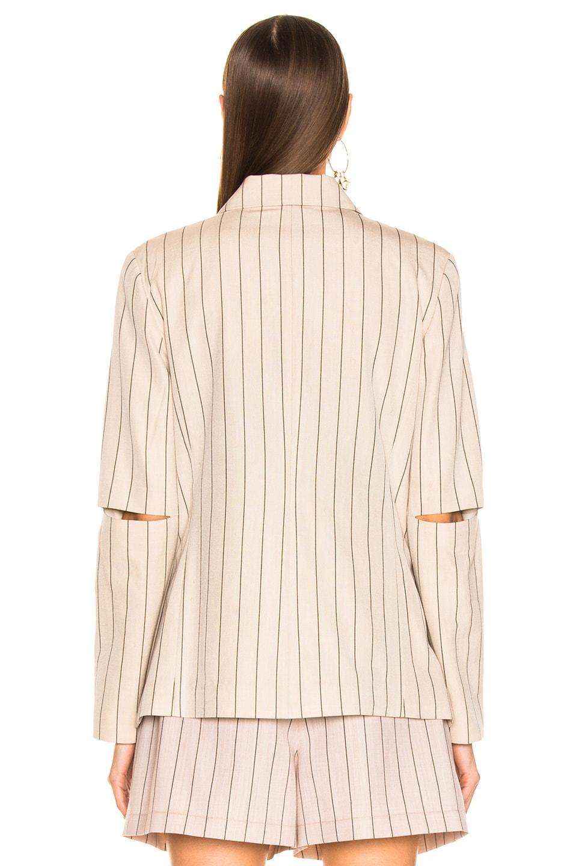 Image 4 of Tibi Stripe Suiting Blazer in Hazelwood Multi