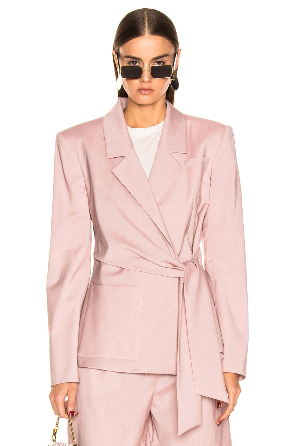 Image 1 of Tibi Wrap Jacket in Blush