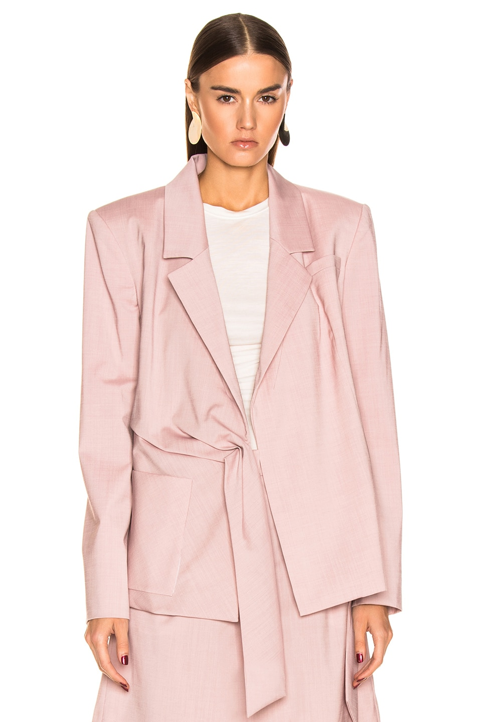 Image 2 of Tibi Wrap Jacket in Blush