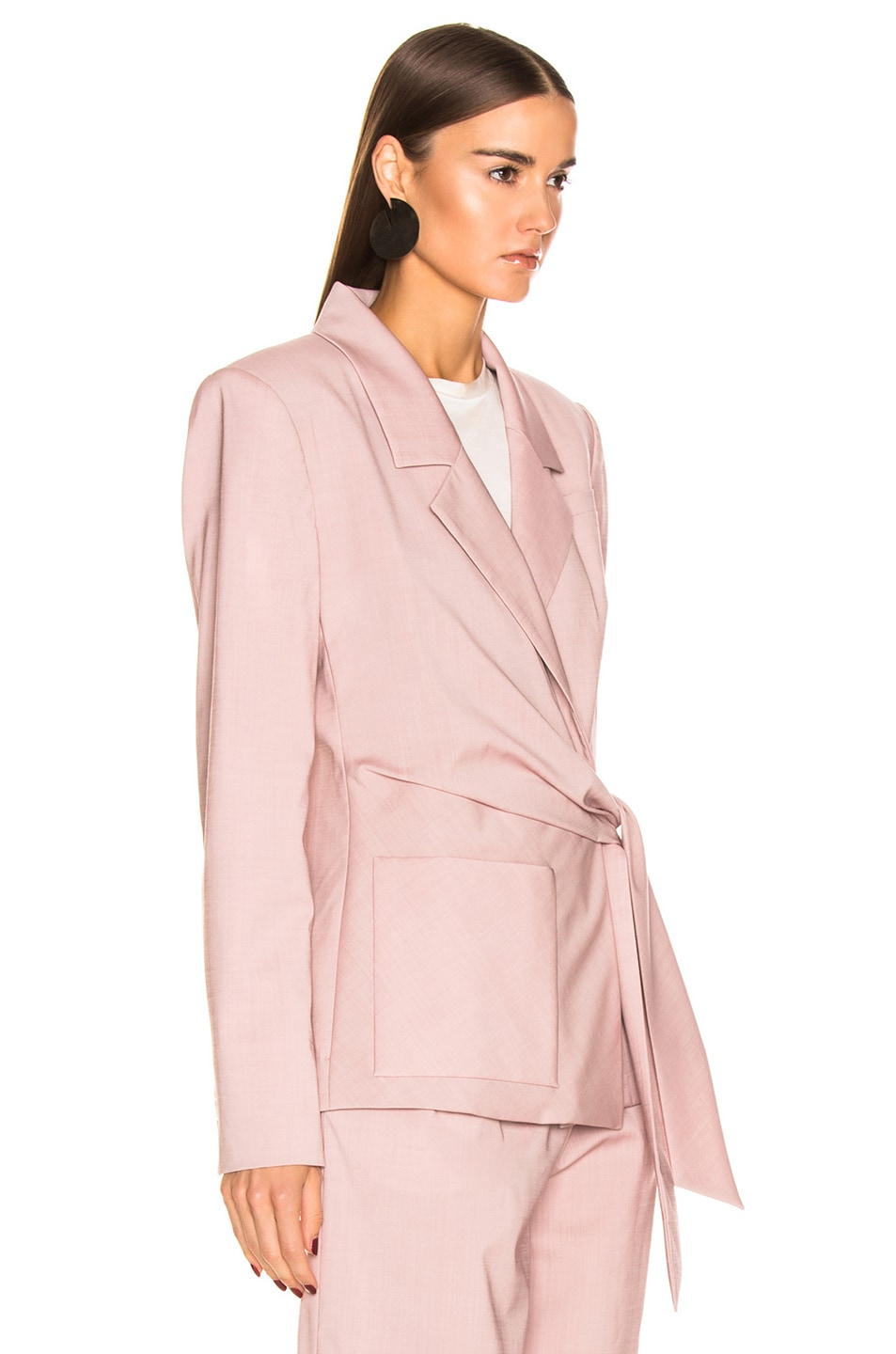 Image 3 of Tibi Wrap Jacket in Blush