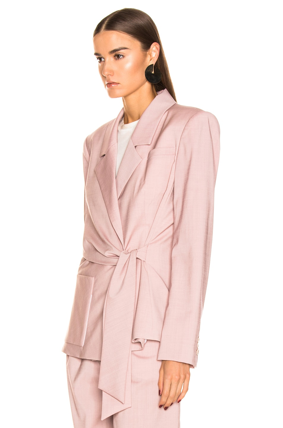 Image 4 of Tibi Wrap Jacket in Blush