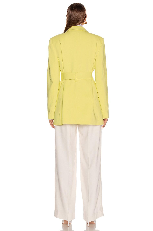 Image 4 of Tibi Oversized Tuxedo Blazer Jacket in Acid Yellow