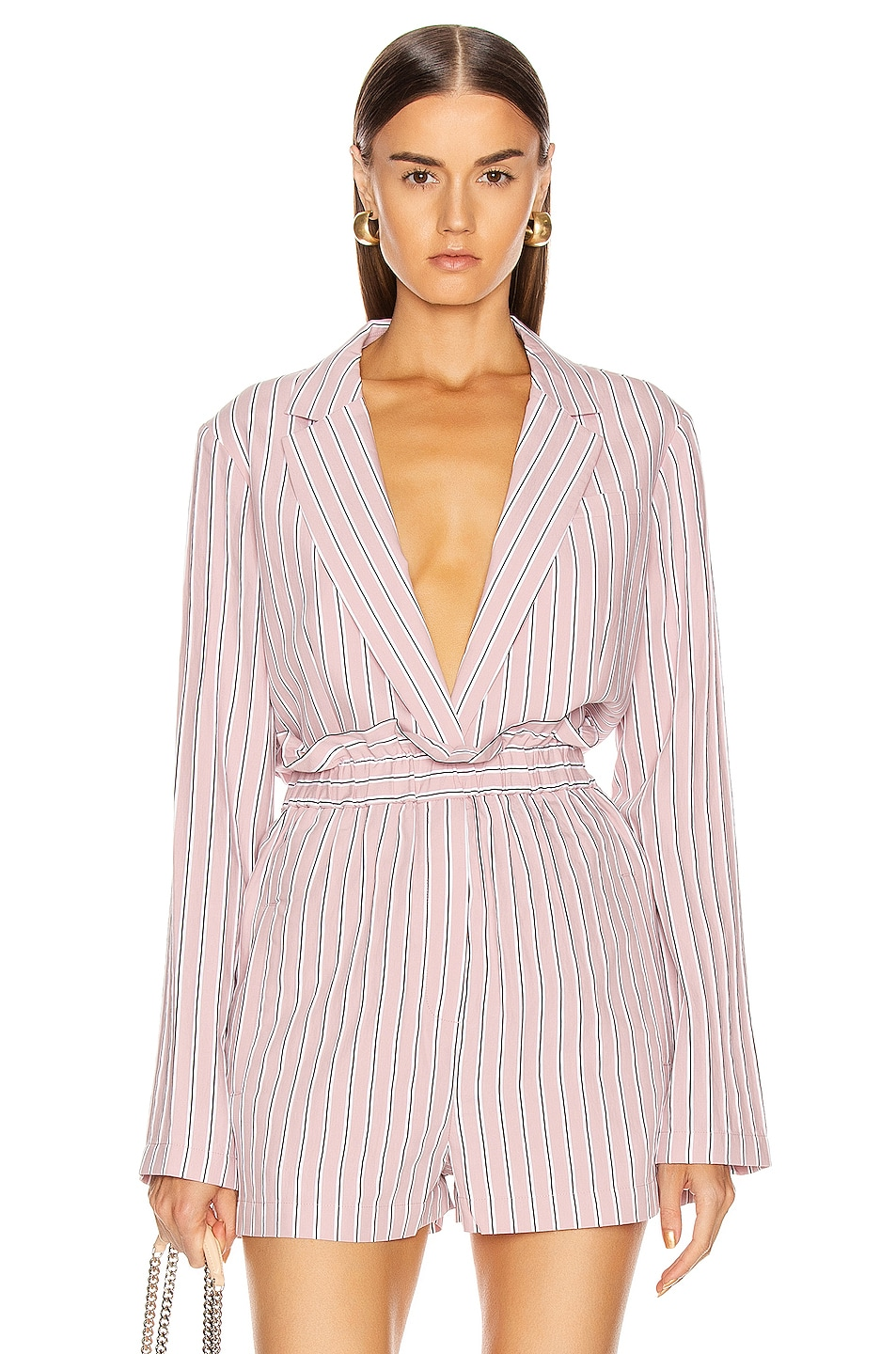 Image 1 of Tibi Oversized Blazer Jacket in Dusty Pink