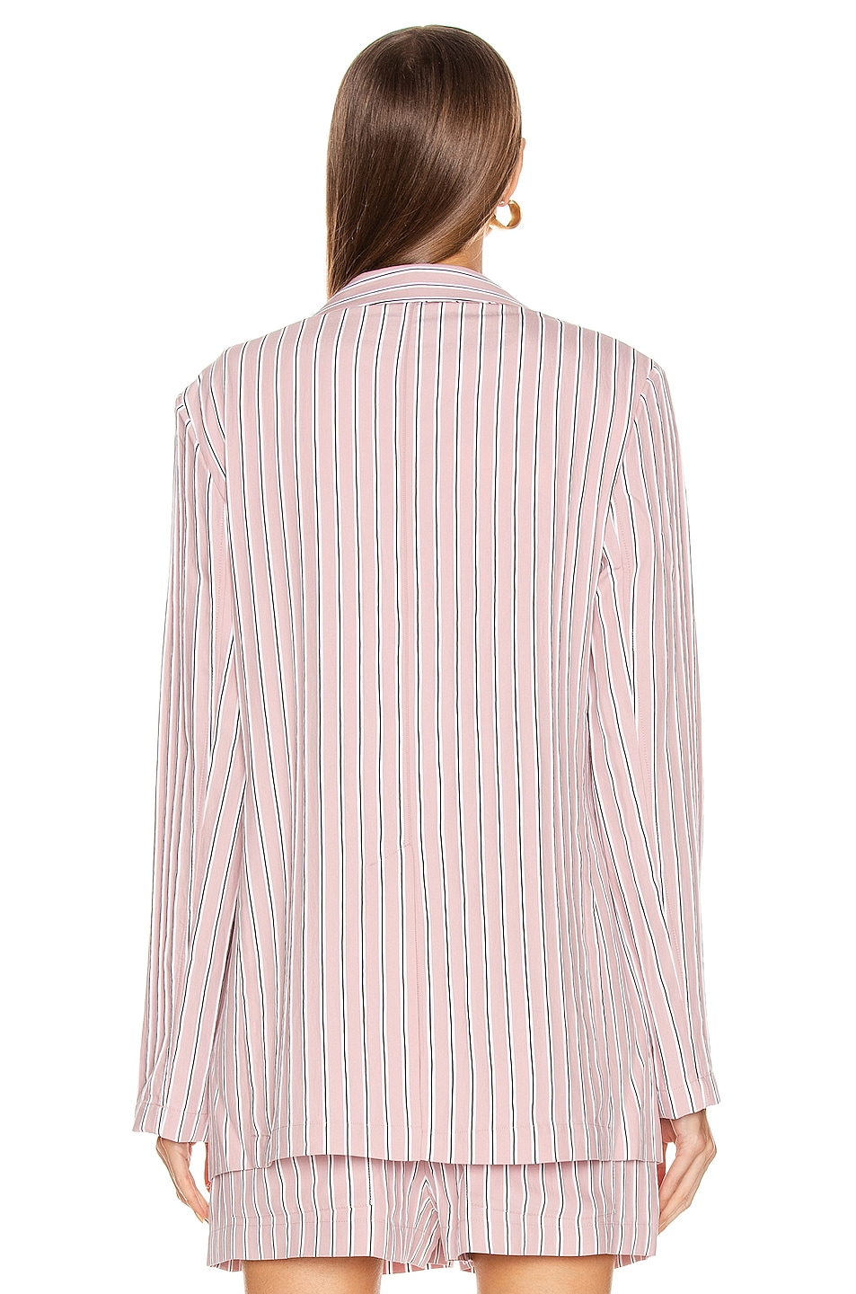 Image 5 of Tibi Oversized Blazer Jacket in Dusty Pink