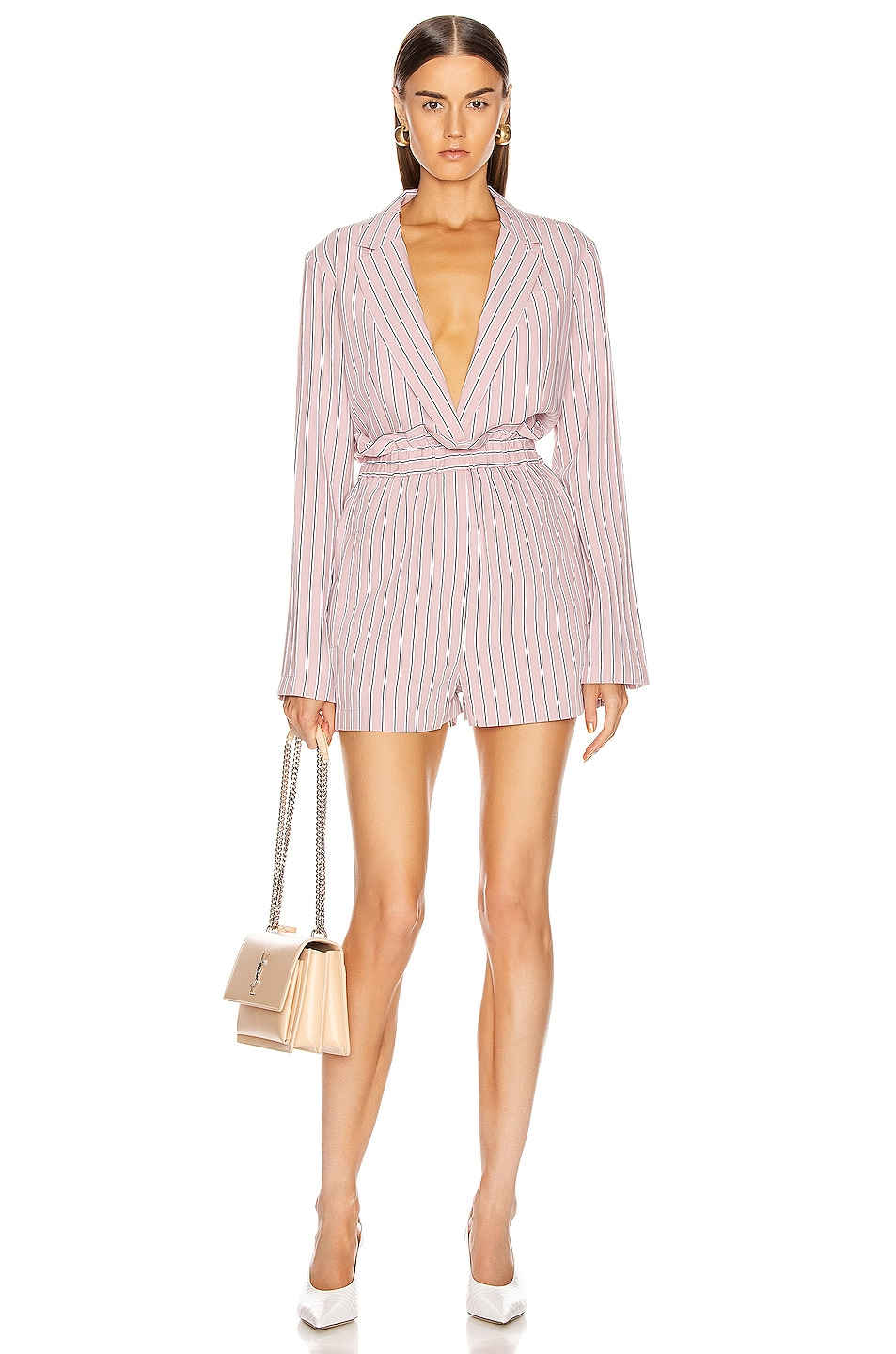 Image 6 of Tibi Oversized Blazer Jacket in Dusty Pink