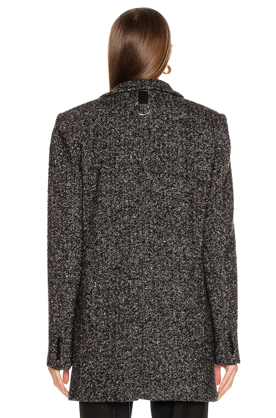 Image 4 of Tibi Multi Color Tweed Long Blazer in Black Multi