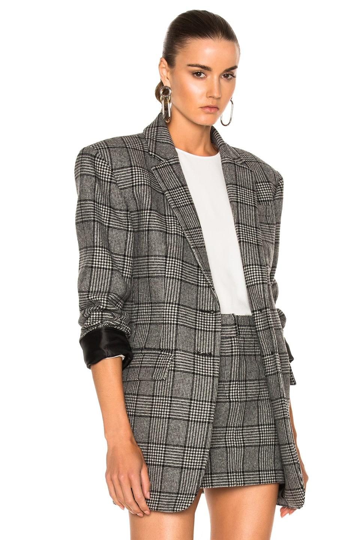 tibi aldridge two button plaid tweed blazer multi pattern modesens. Black Bedroom Furniture Sets. Home Design Ideas