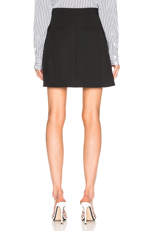 Image 3 of Tibi A Line Mini Skirt in Black
