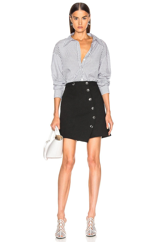 Image 4 of Tibi A Line Mini Skirt in Black