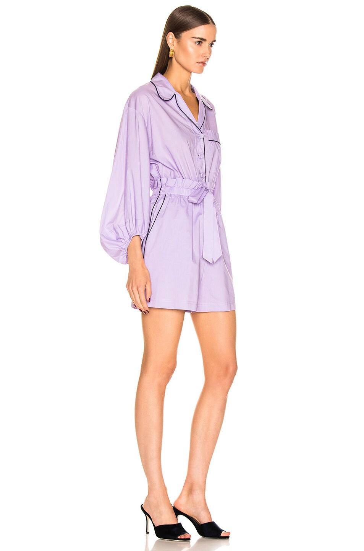 Image 2 of Tibi Baptise Pajama Jumper in Lavender