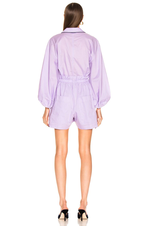 Image 3 of Tibi Baptise Pajama Jumper in Lavender
