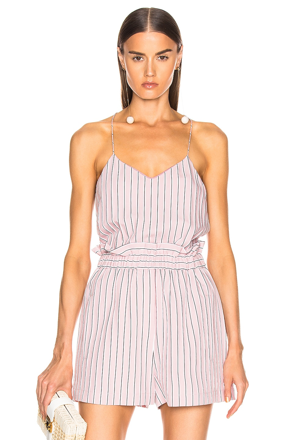 Image 1 of Tibi Classic Cami in Dusty Pink