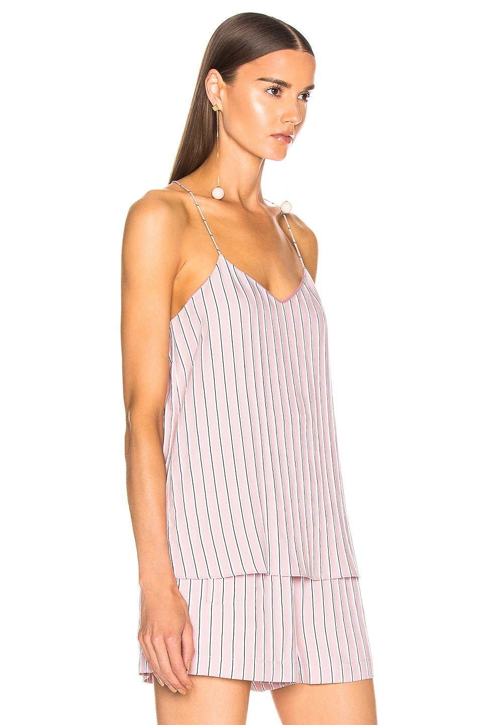 Image 2 of Tibi Classic Cami in Dusty Pink