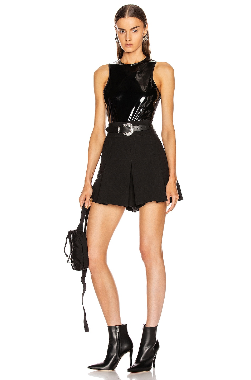 Image 5 of Tibi Tech Patent Bodysuit in Black