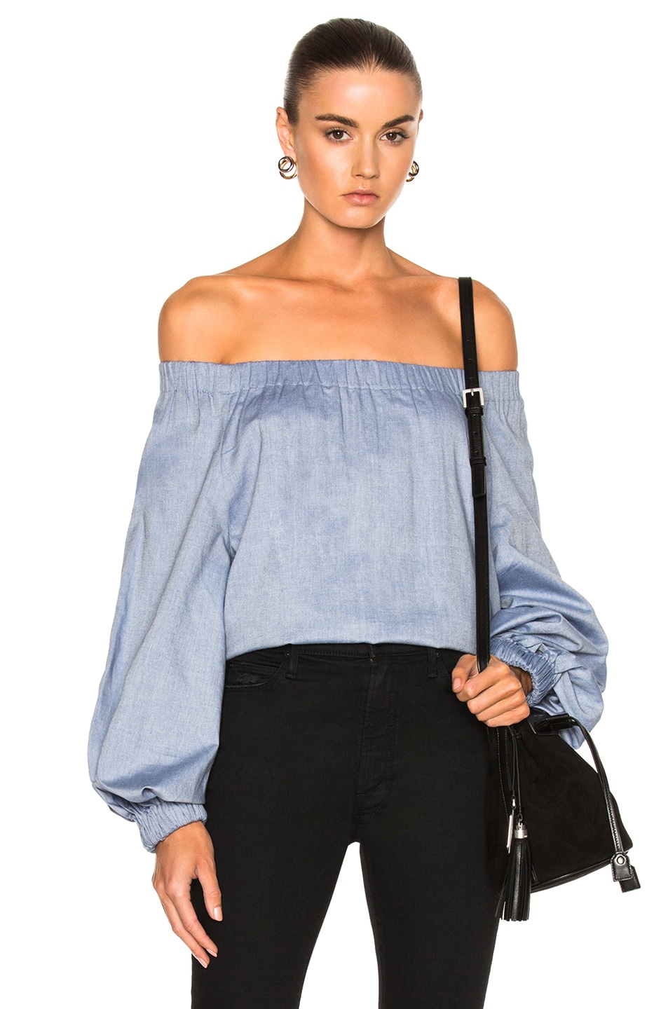 Image 1 of Tibi Off Shoulder Top in Blue
