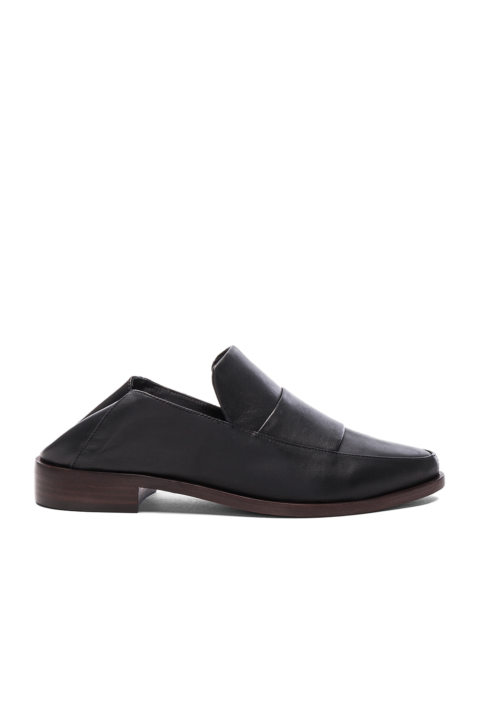 Image 1 of Tibi Leather Darla Loafers in Black