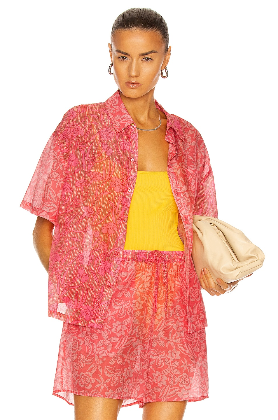 Image 1 of Tell Your Friends Boxy Shirt in Gael Print
