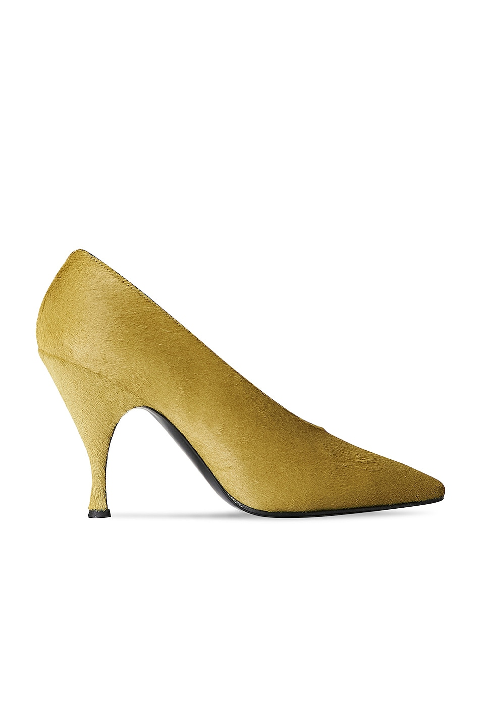 Image 1 of The Row Cone Heel Pony Hair Pumps in Lime