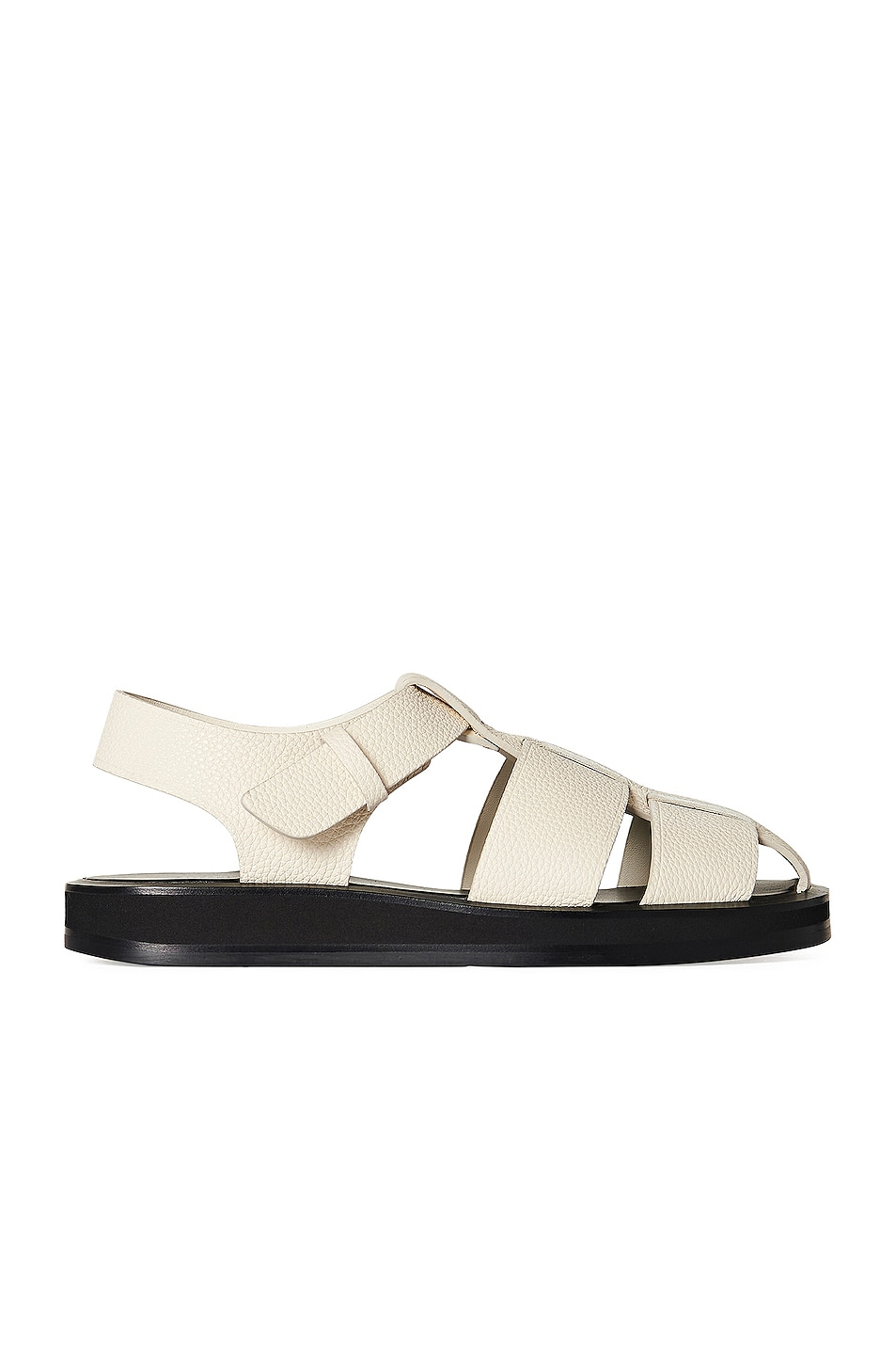 Image 1 of The Row Fisherman Leather Sandals in Ivory