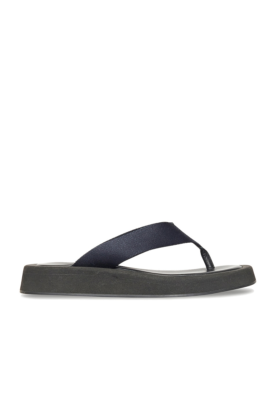 Image 1 of The Row Ginza Thong Sandals in Navy & Black