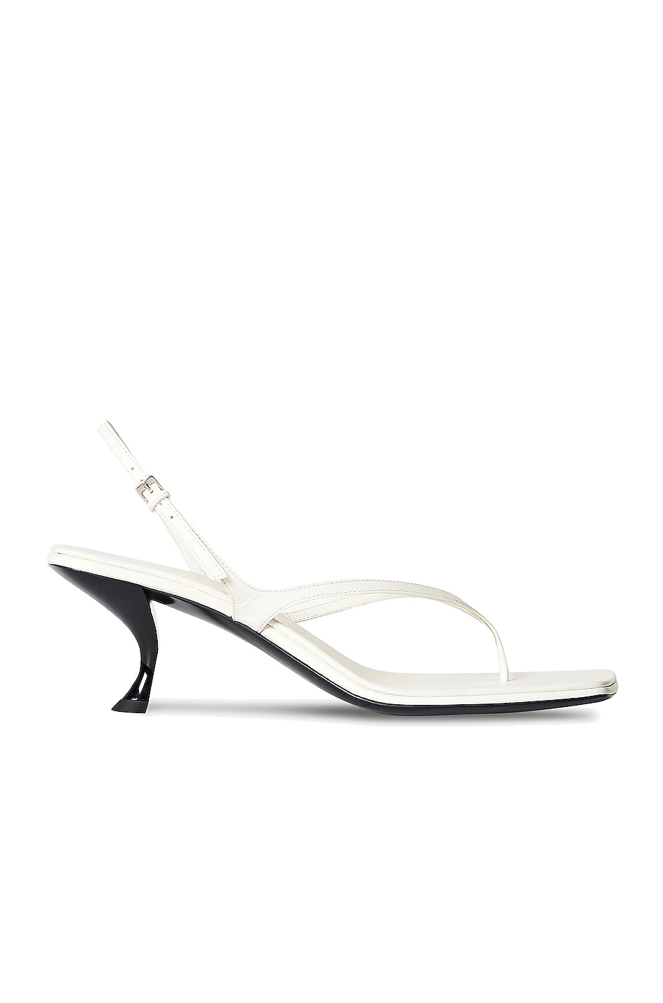 Image 1 of The Row Constance Leather Sandals in Bianco