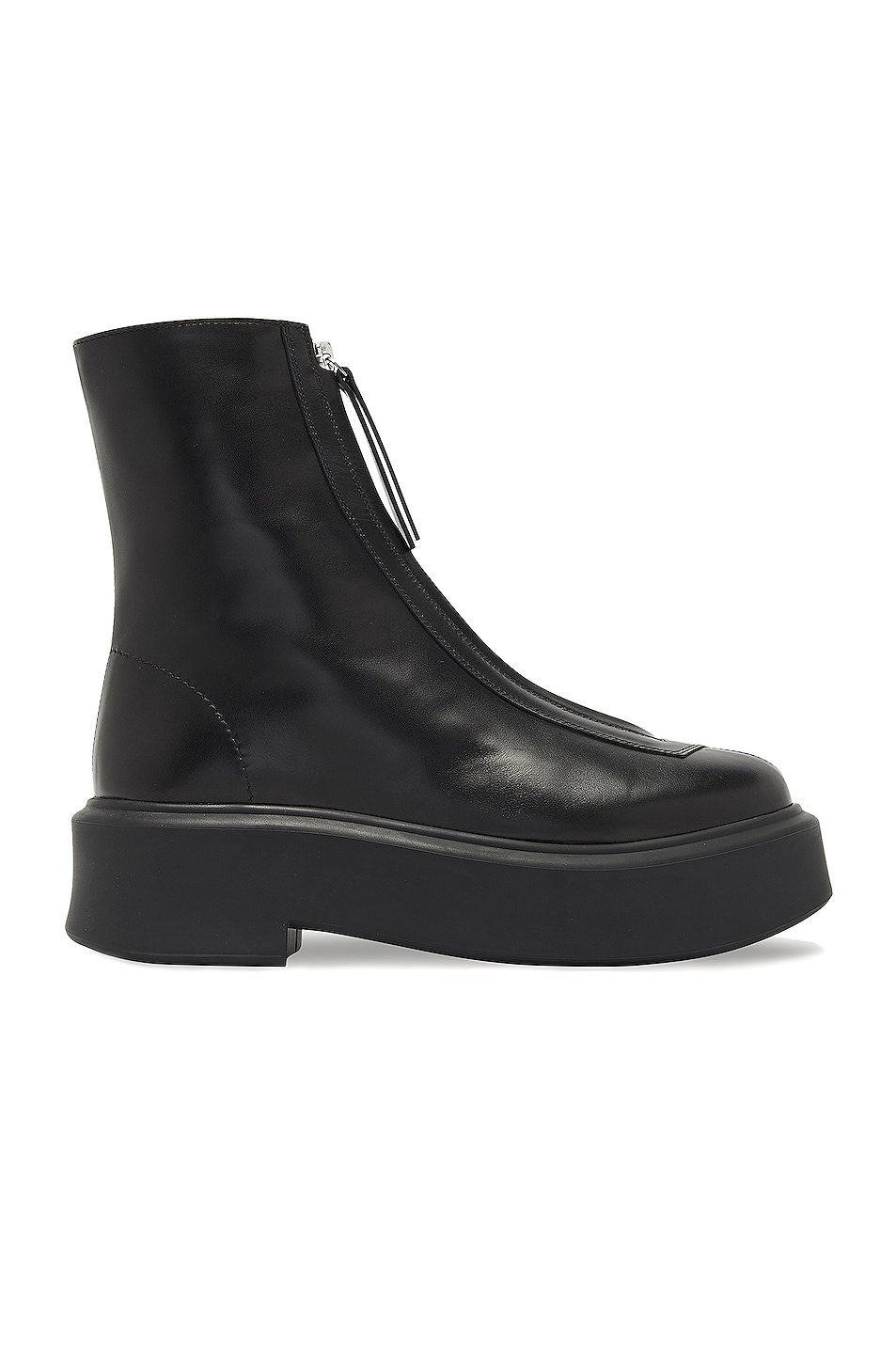 Image 1 of The Row Zipped Booties in Black