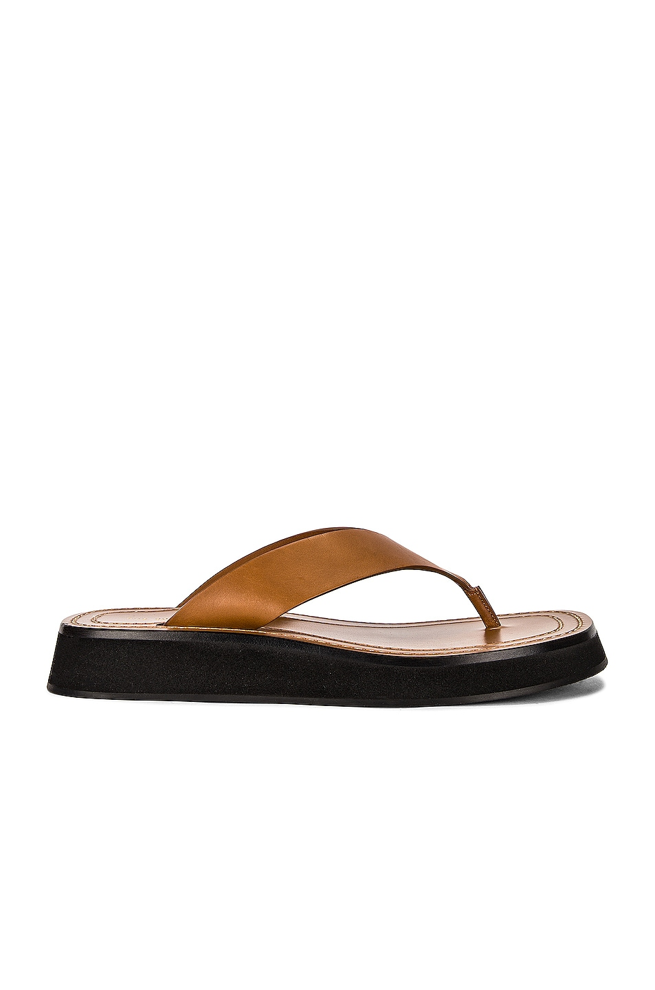 Image 1 of The Row Ginza Thong Sandals in Caramel