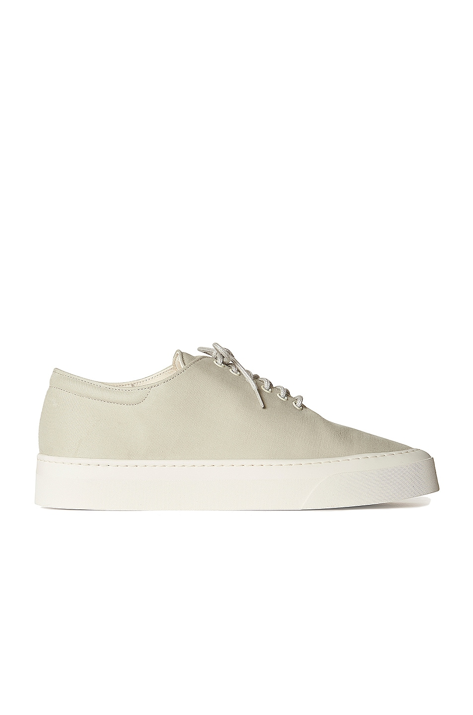 Image 1 of The Row Marie H Lace Up Canvas Sneakers in Light Grey