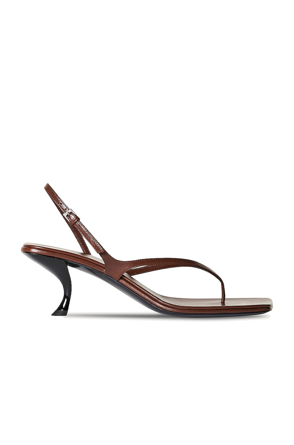 Image 1 of The Row Constance Leather Sandals in Walnut