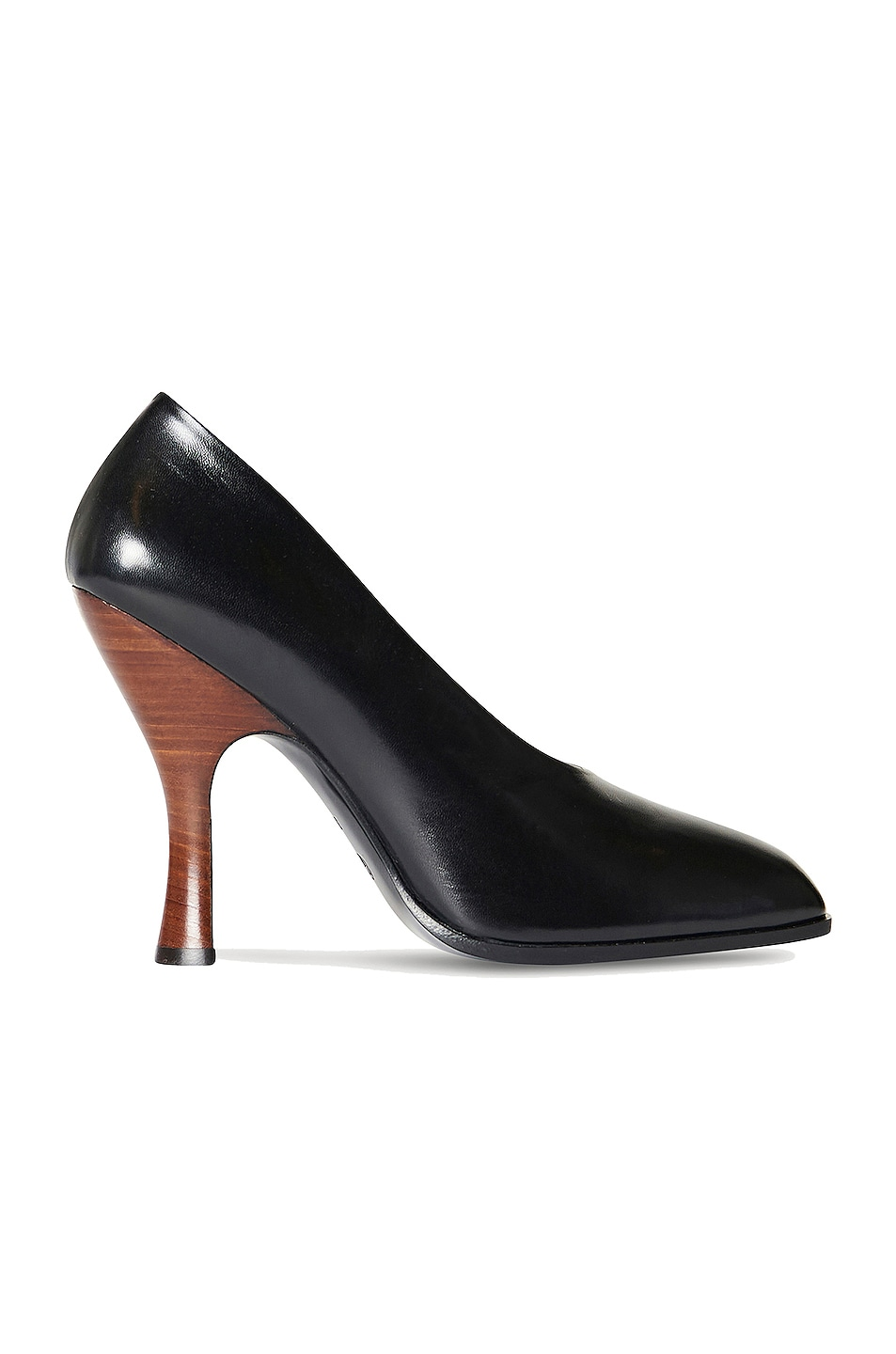 Image 1 of The Row Jade Leather Pumps in Black