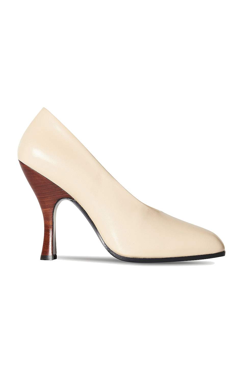 Image 1 of The Row Jade Leather Pumps in Nude