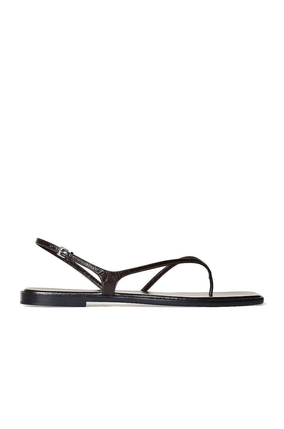 Image 1 of The Row Constance Leather Flat Sandals in Mocha