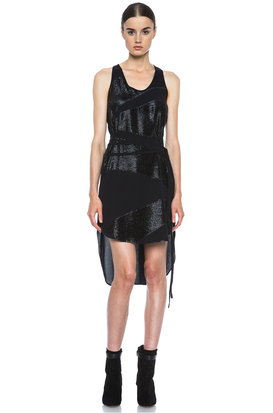 Image 1 of Tess Giberson Jacquard Lame Dress in Black