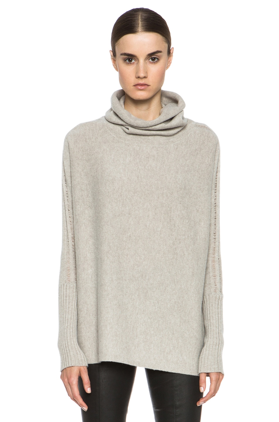 Image 1 of Tess Giberson Unstructured Wool-Blend Turtleneck in Natural