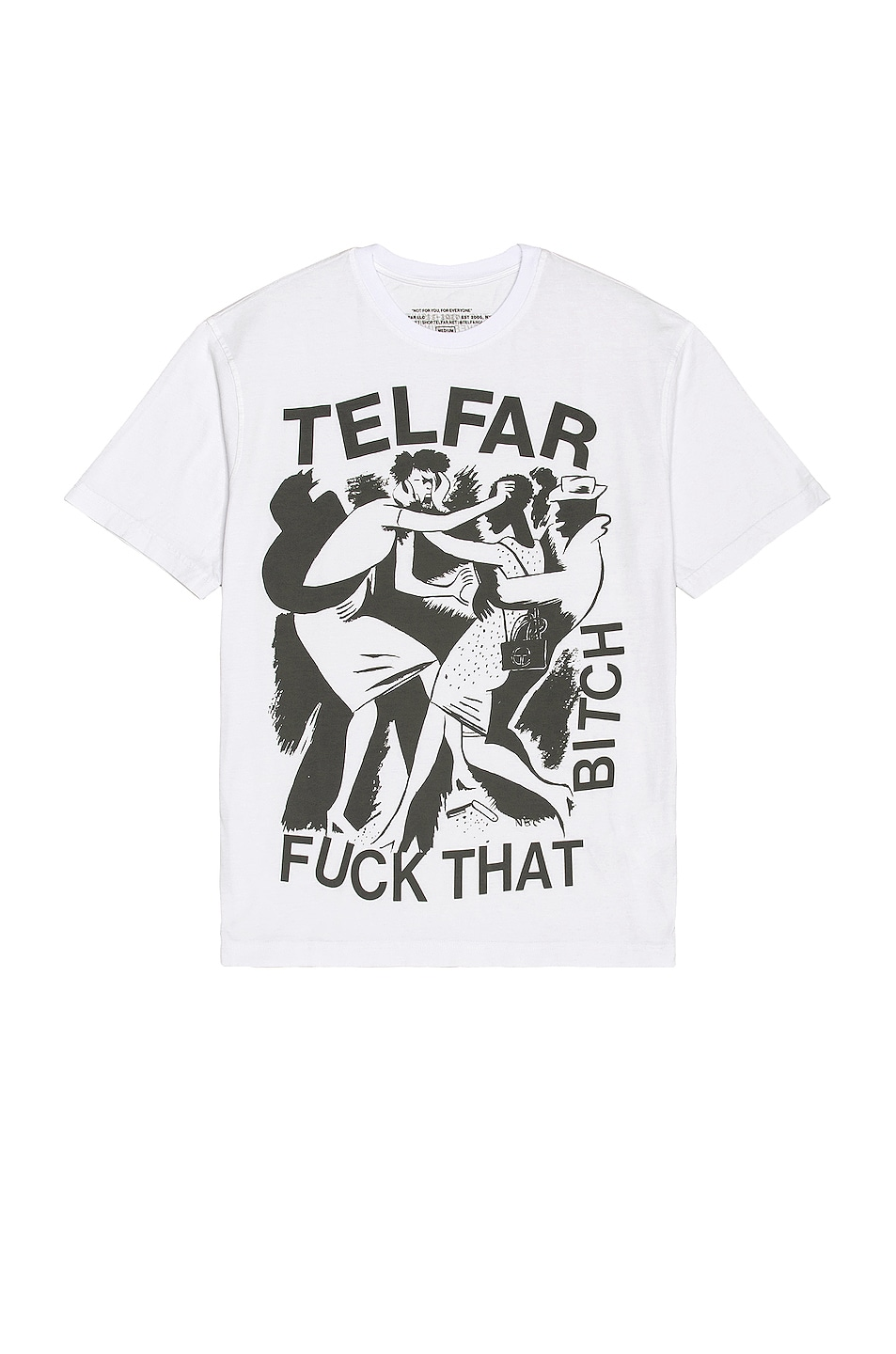 Image 1 of Telfar Fuck That Bitch Tee in Off White
